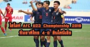 , ไฮไลท์ AFC U23 Championship 2019 ทีมชาติไทย 4-0 อินโดนีเซีย, ลุงรวย(ใคร)